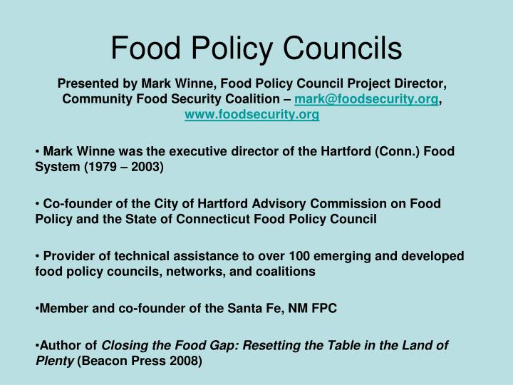 Food policy councils