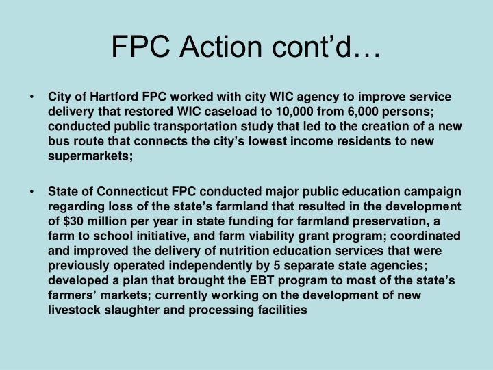 FPC Action cont'd…