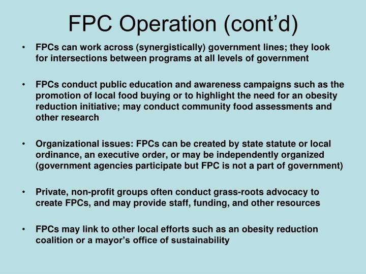 FPC Operation (cont'd)