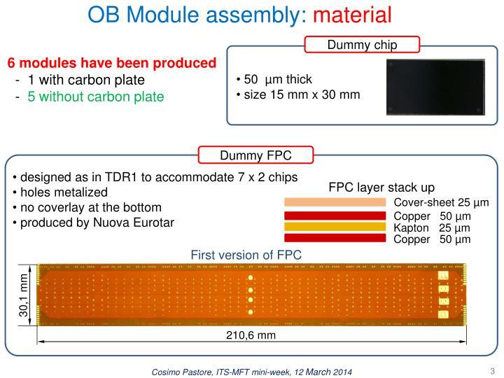 OB Module assembly: