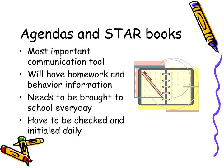 Agendas and star books