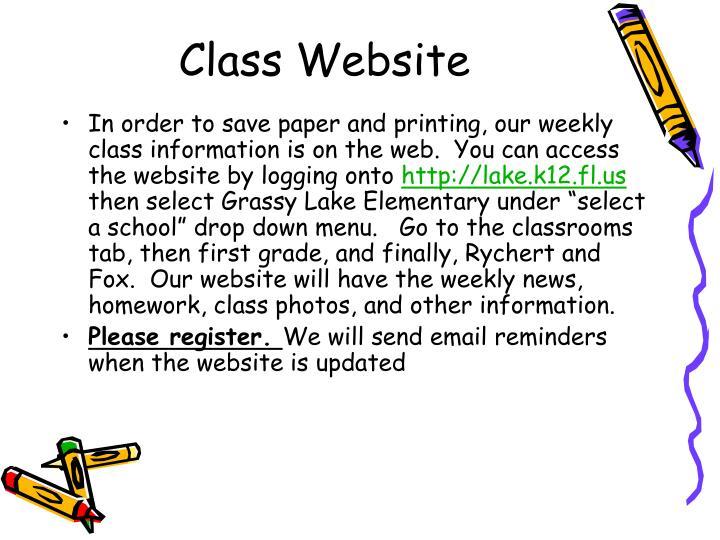 Class Website
