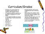 curriculum grades