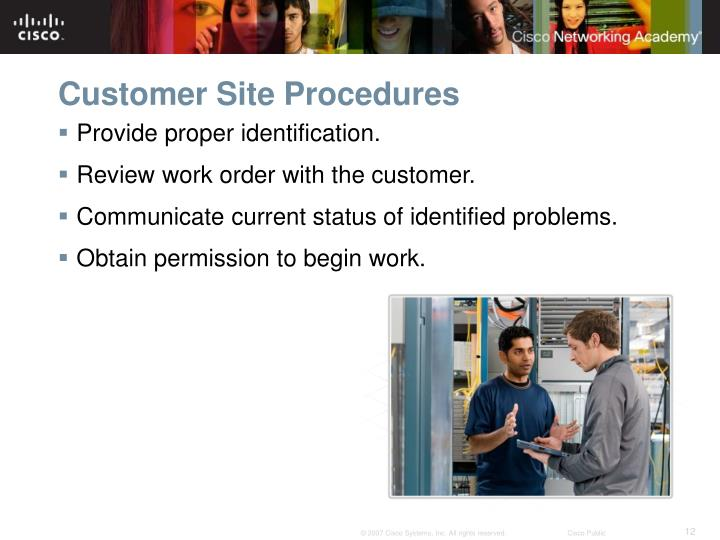Customer Site Procedures