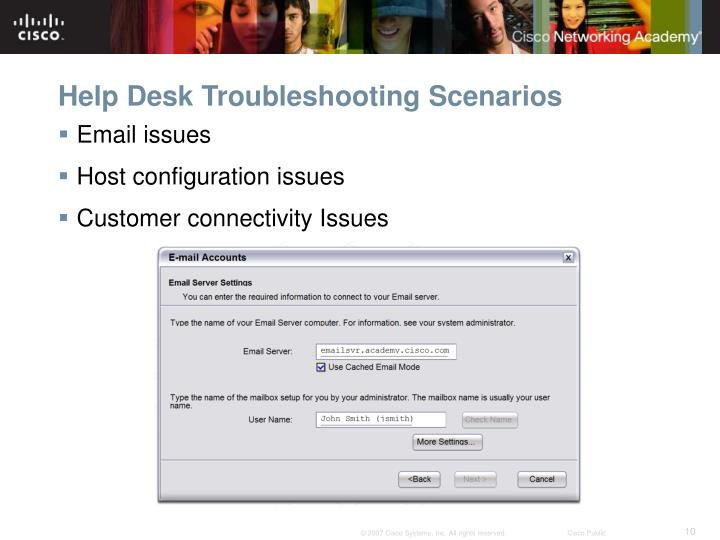 Help Desk Troubleshooting Scenarios