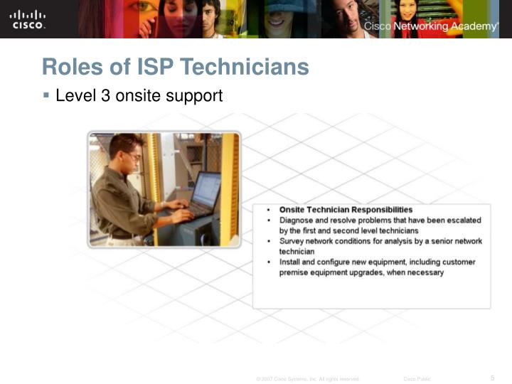 Roles of ISP Technicians