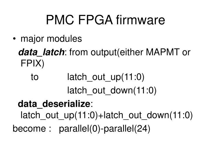 PMC FPGA firmware