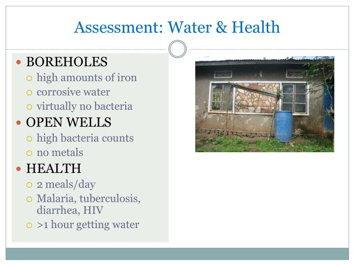 Assessment: Water & Health