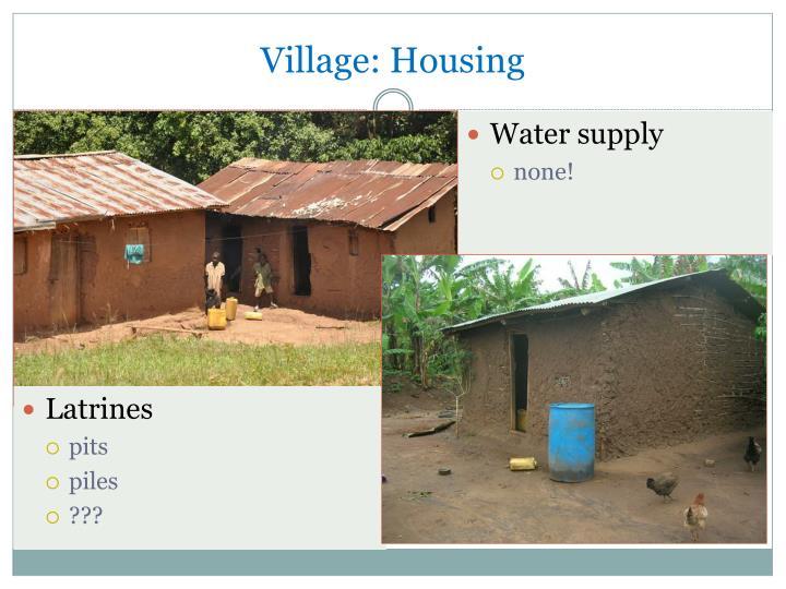 Village: Housing