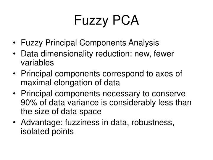 Fuzzy PCA