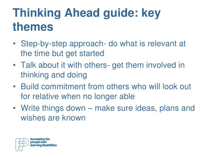 Thinking Ahead guide: key themes