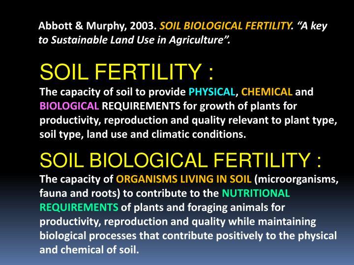 Abbott & Murphy, 2003.