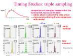 timing studies triple sampling