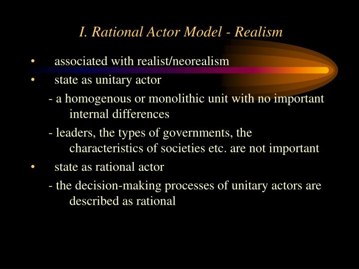 I rational actor model realism