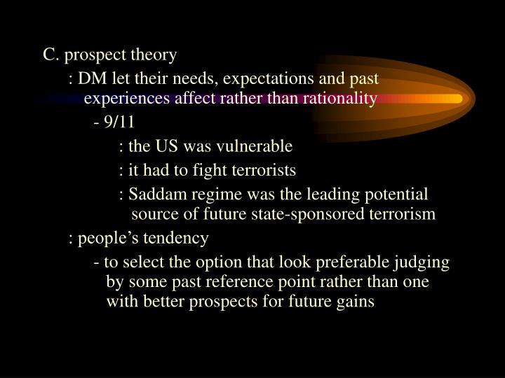 C. prospect theory