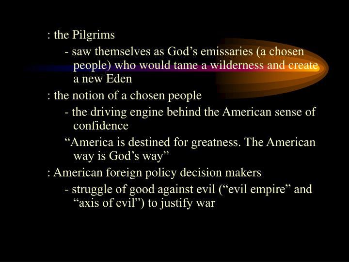 : the Pilgrims