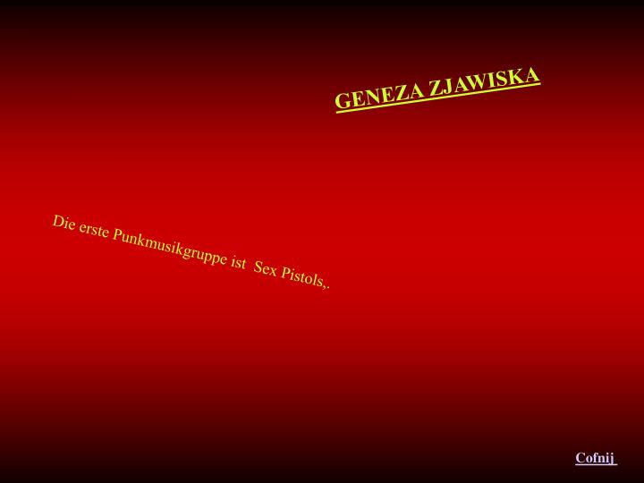 GENEZA ZJAWISKA