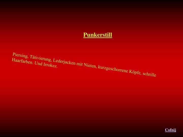 Punkerstill