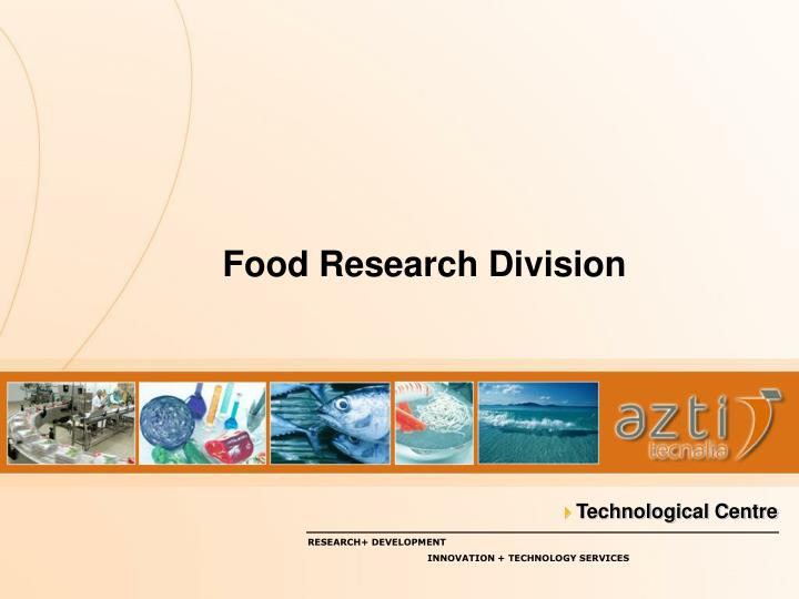 Food research division