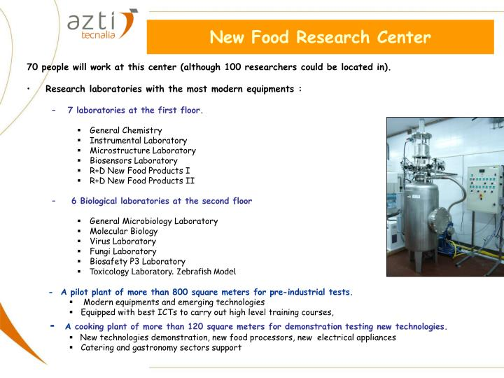 New Food Research Center