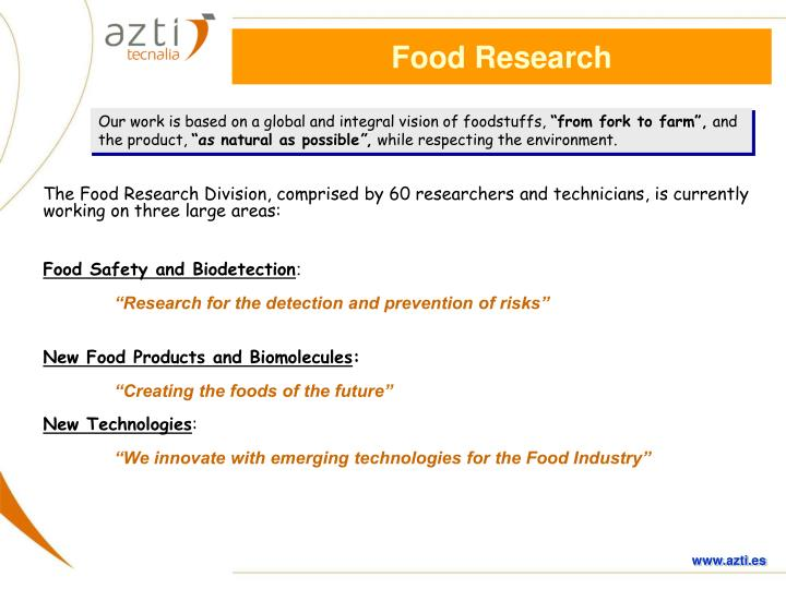 Food Research