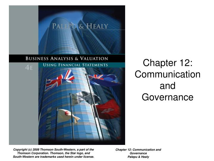 Chapter 12 communication and governance