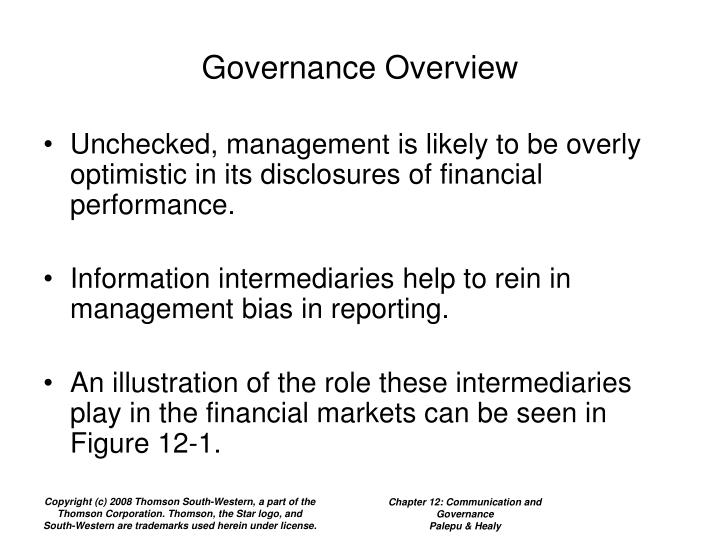 Governance overview