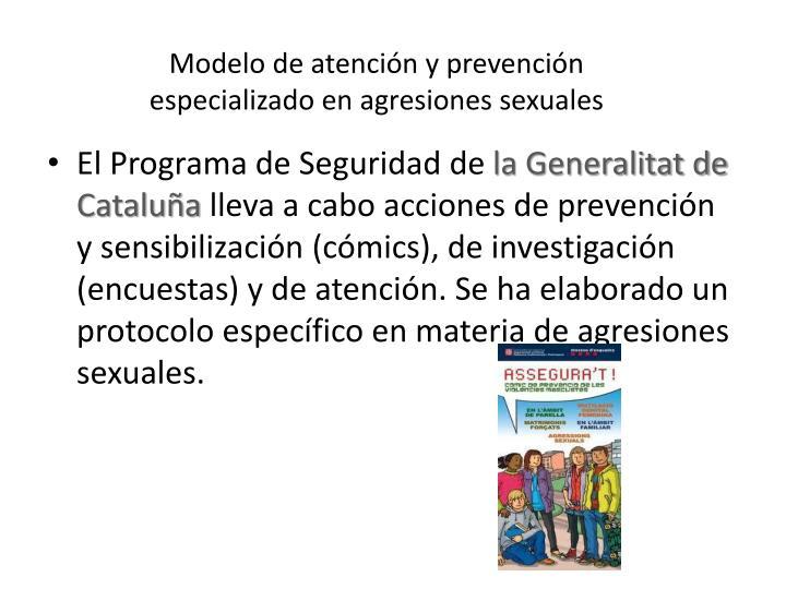 Modelo de atención y prevención especializado en agresiones sexuales