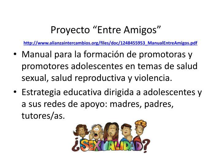 """Proyecto """"Entre Amigos"""""""