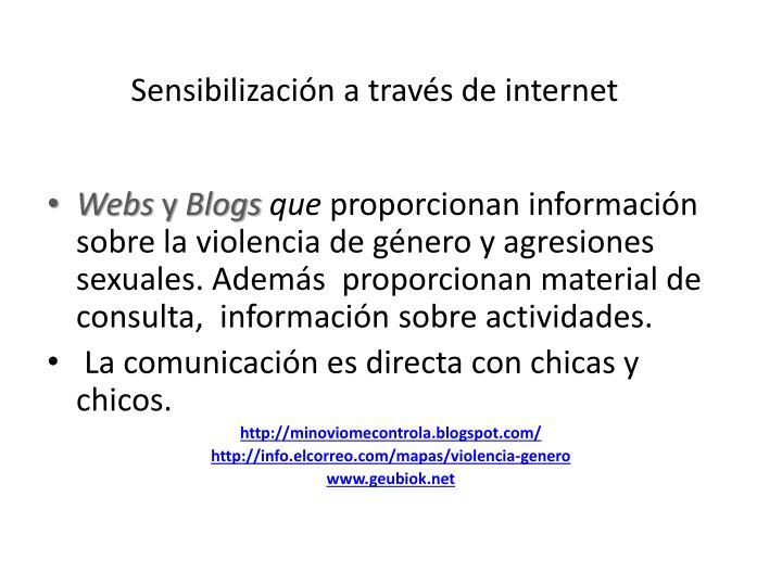 Sensibilización a través de internet