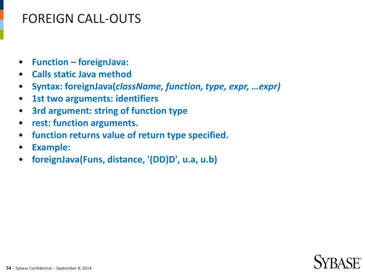 Function – foreignJava: