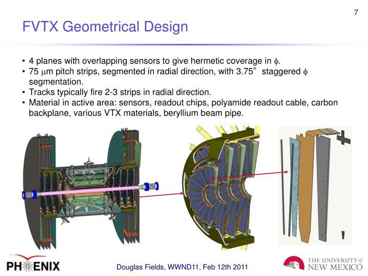 FVTX Geometrical Design