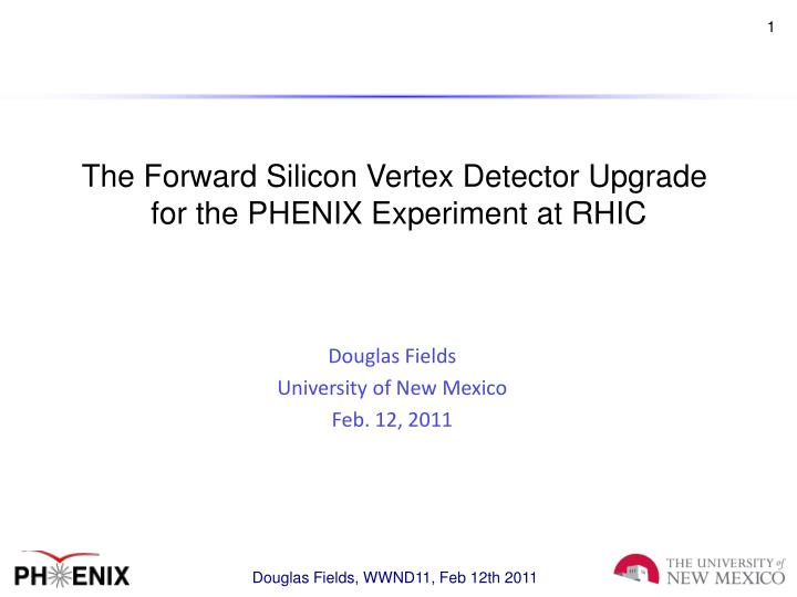 The Forward Silicon Vertex Detector Upgrade