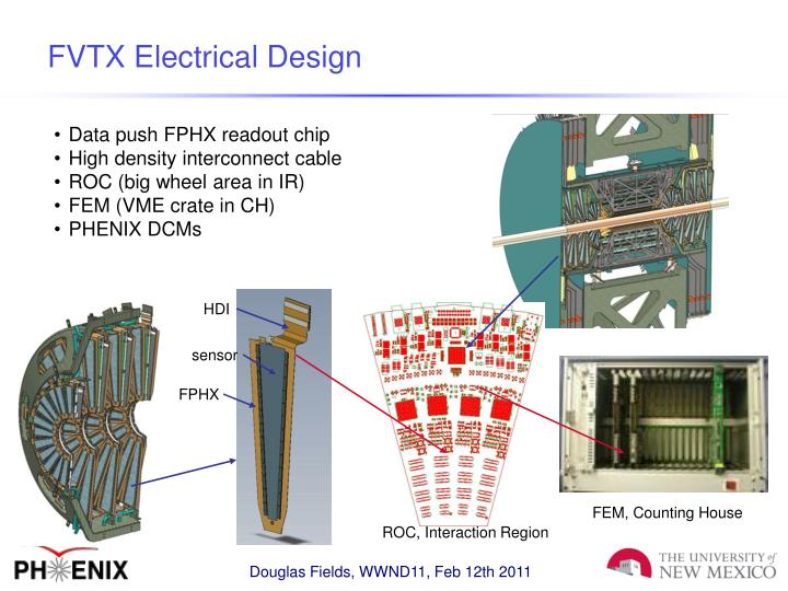 FVTX Electrical Design