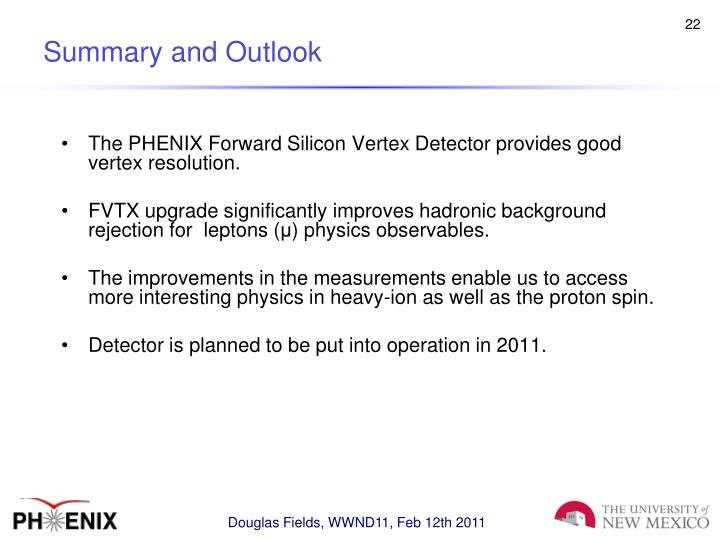 The PHENIX Forward Silicon Vertex Detector provides good vertex resolution.