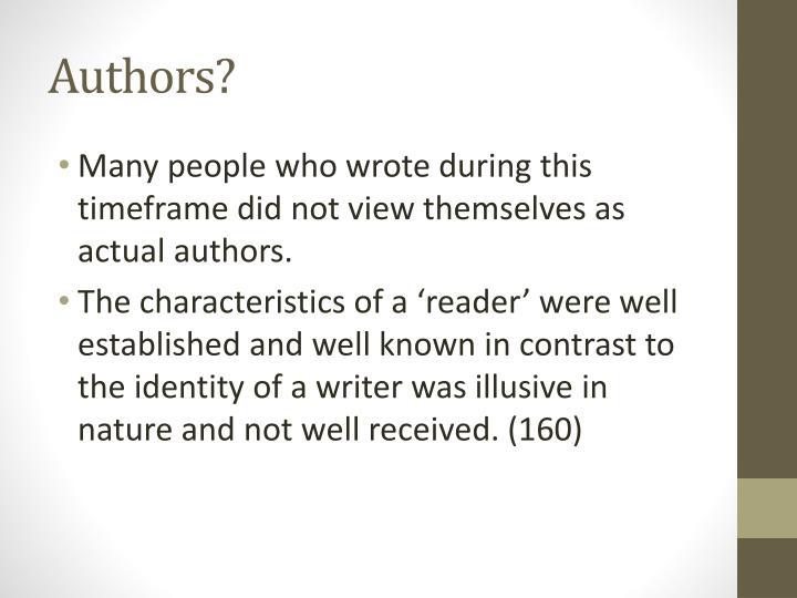 Authors?