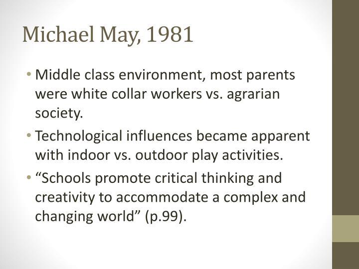 Michael May, 1981