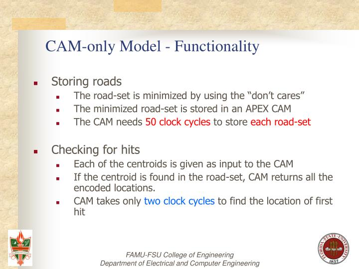 CAM-only Model - Functionality