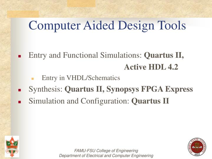 Computer Aided Design Tools