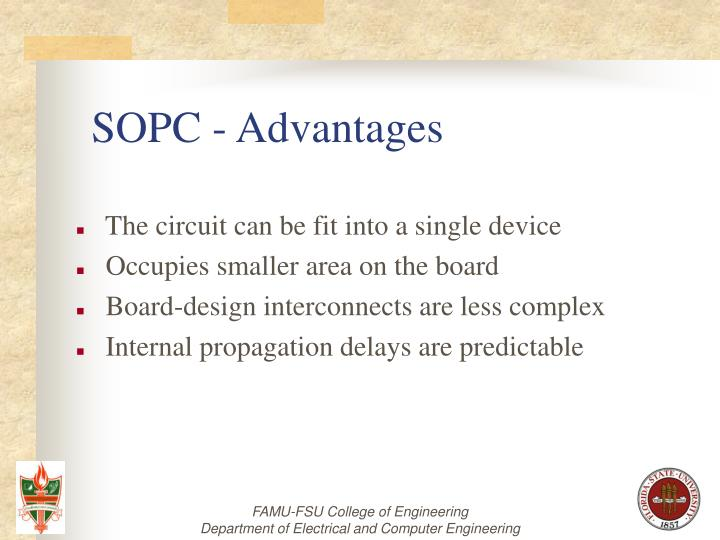 SOPC - Advantages