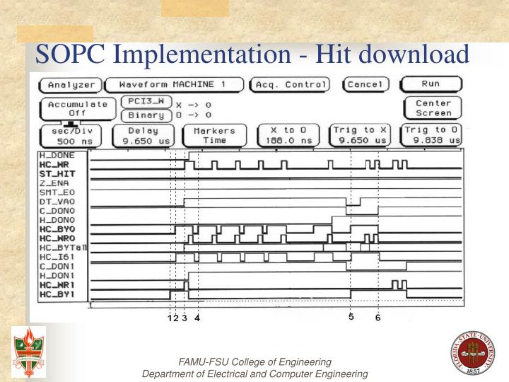 SOPC Implementation - Hit download