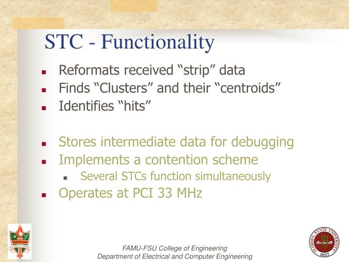 STC - Functionality