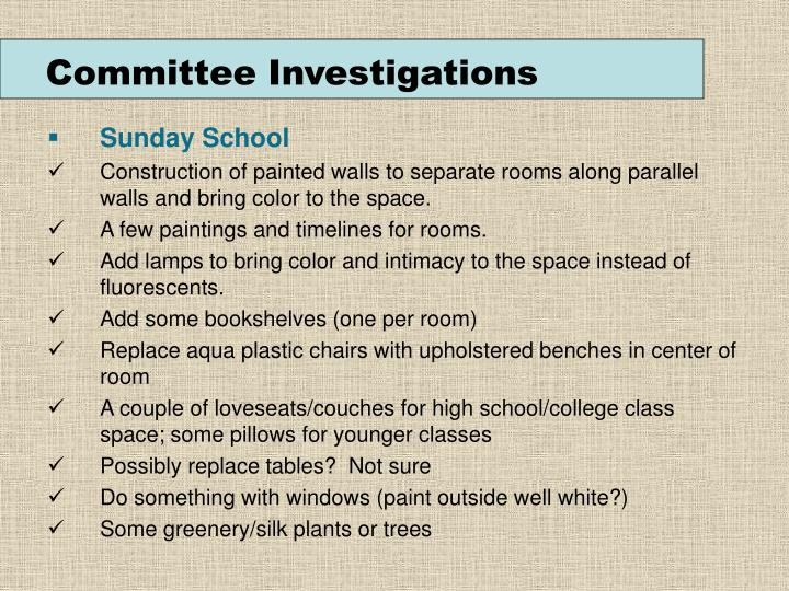 Committee Investigations