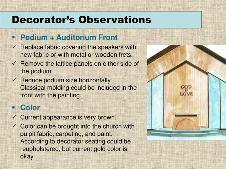 Decorator's Observations