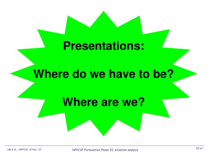 Presentations: