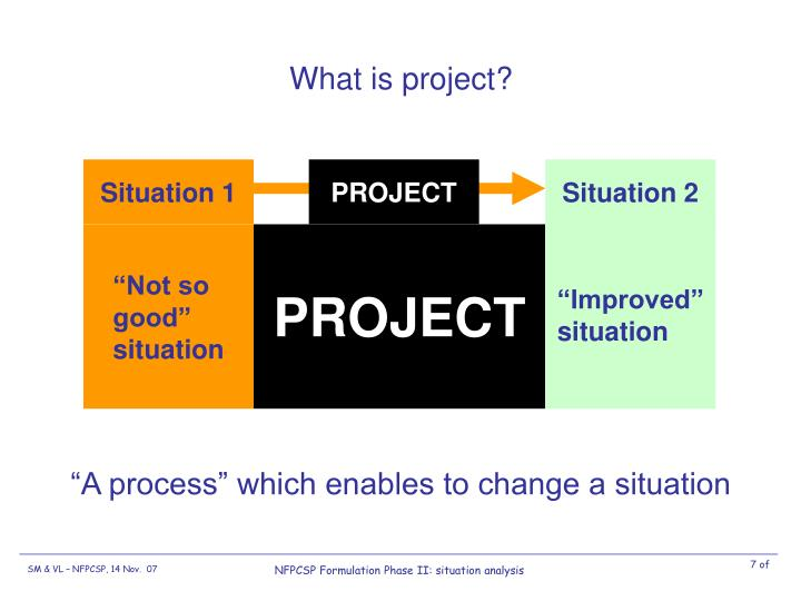 What is project?