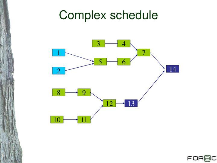 Complex schedule