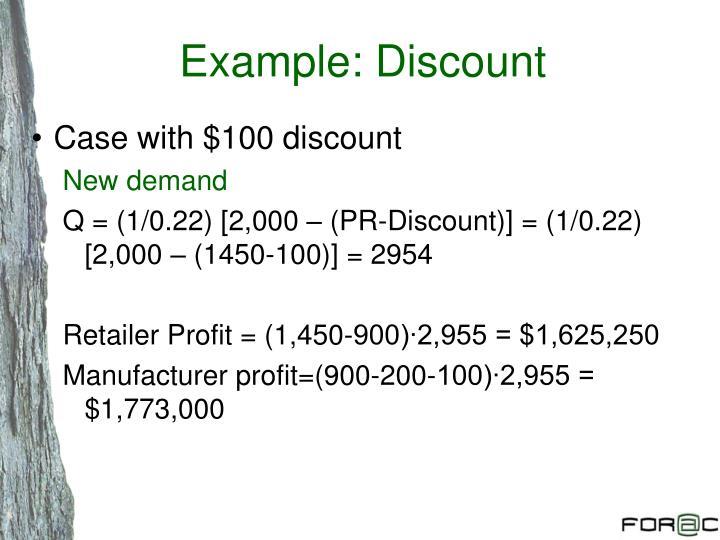 Example: Discount