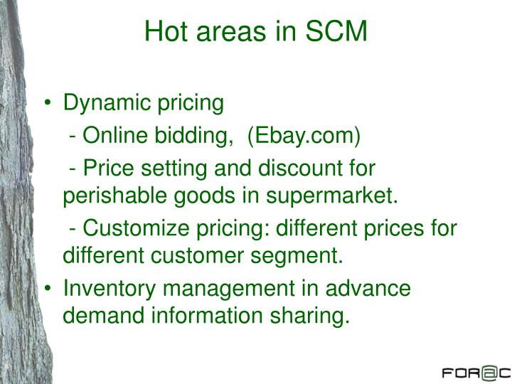 Hot areas in SCM