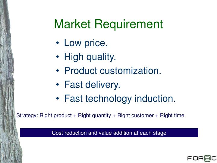 Market Requirement